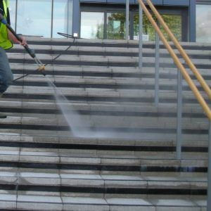 Pressure washing steps