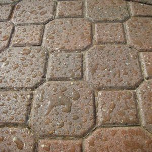 Sealed block paving closeup
